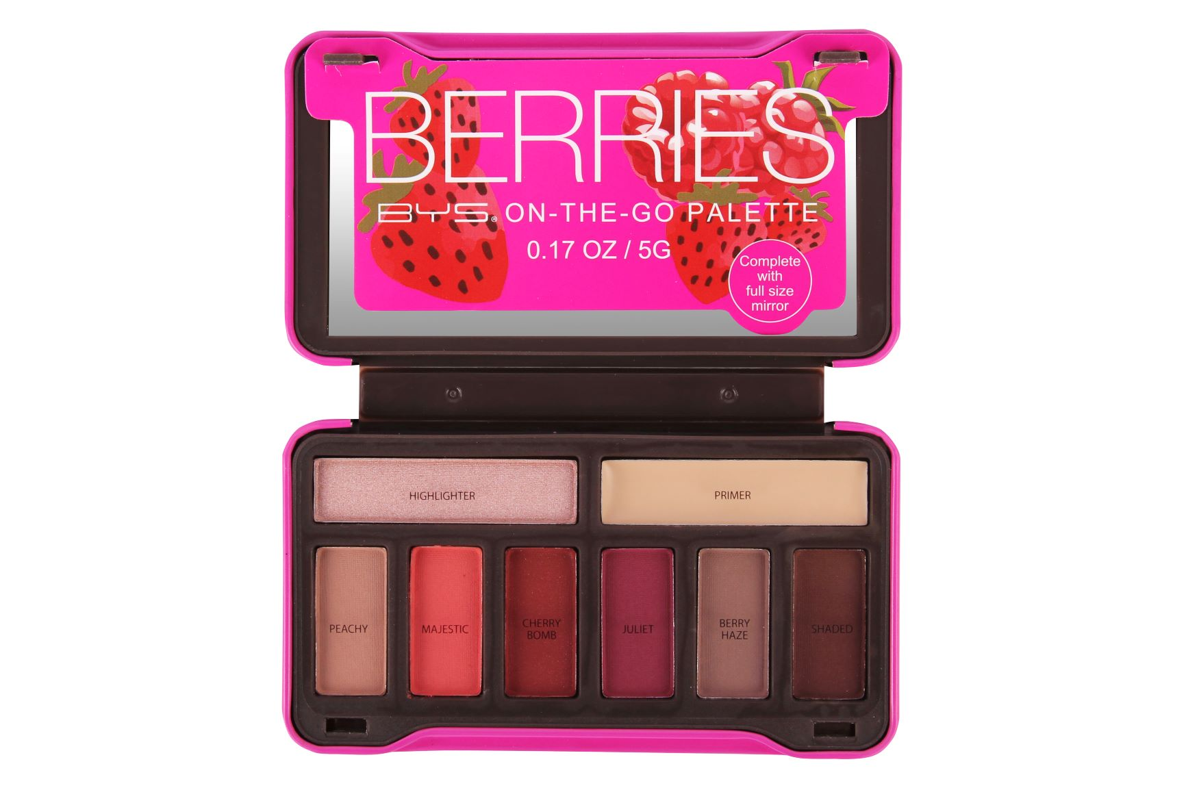 Paleta de Sombras on the go 8 Tonos Berries