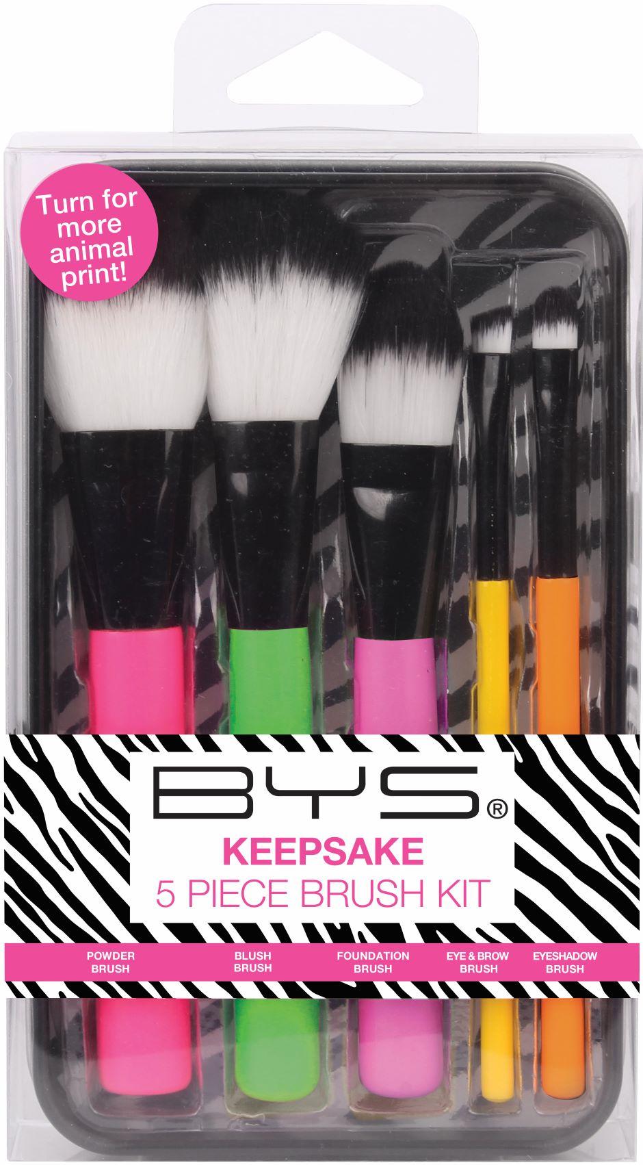 Brochas Makeup in Keepsake 5 Piezas tin Wild