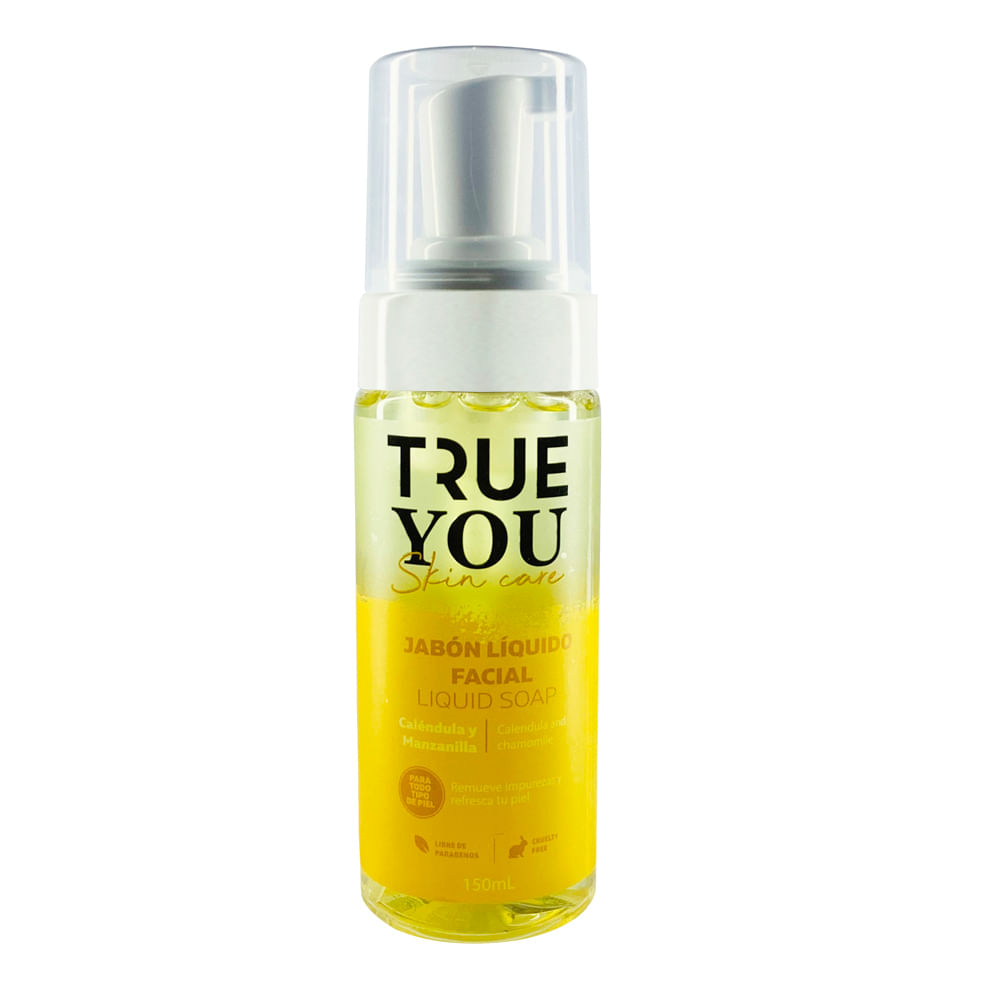 Jabon Líquido Facial True you Amarillo 150 ml