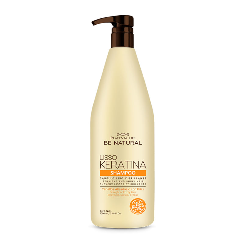 Shampoo be Natural Liso Keratina 1000ml